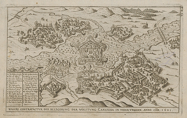 Paul Fürst, Lucas Schnitzer – Obliehanie pevnosti Kanizsa kresťanmi roku 1601