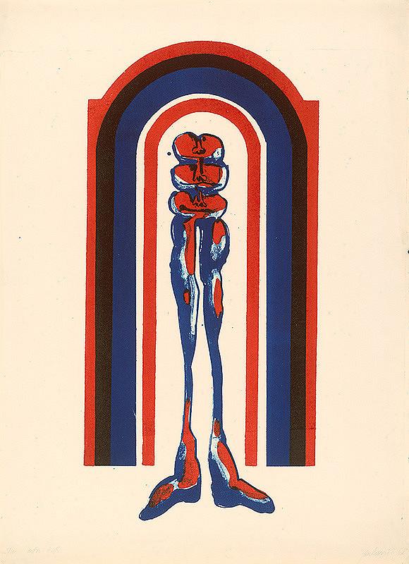 Jozef Jankovič – Serigrafia III. Príchod