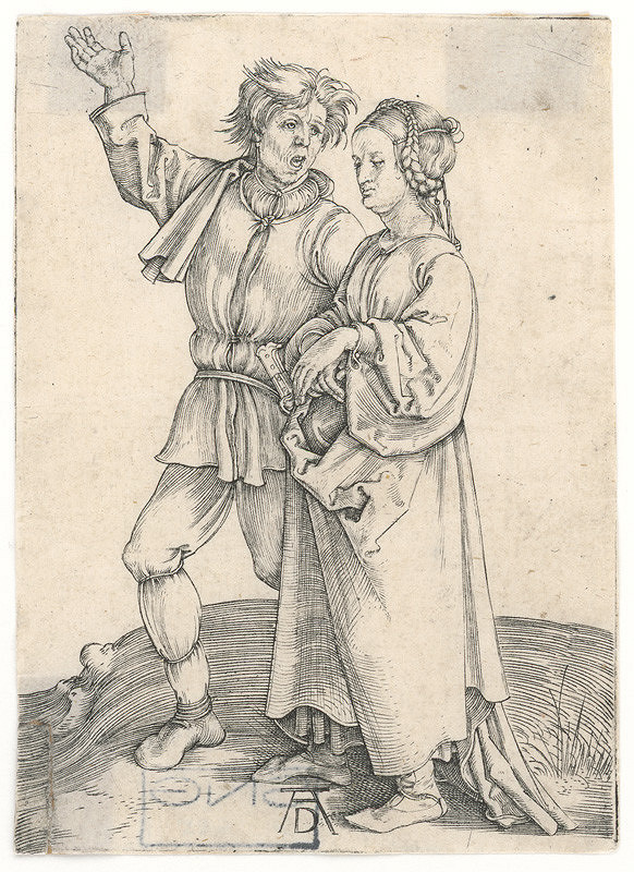 Albrecht Dürer – Sedliacky pár na prechádzke