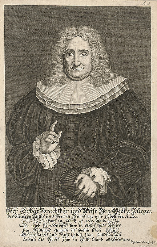 Tobias Gabriel Beck – Portrét Georga Burgera z Norimbergu