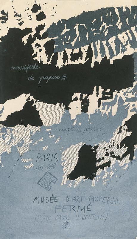 Rudolf Sikora - Topografia 7 (Spomienka na Paríž 1968, Papierový manifest)