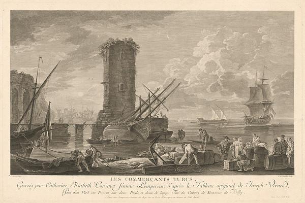 Catherine Elisabeth Cousinet, Claude-Joseph Vernet – Tureckí obchodníci