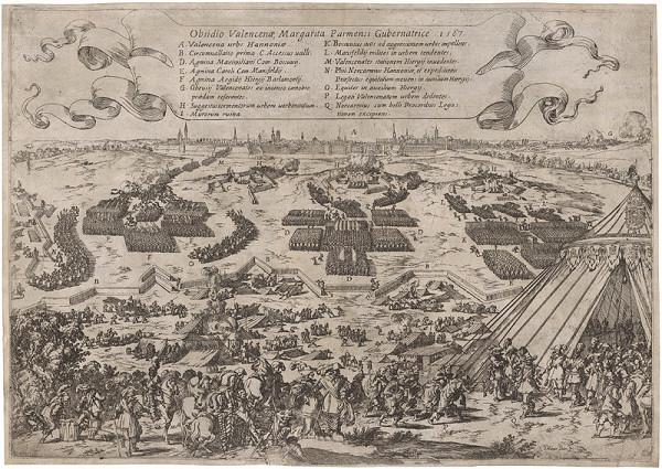 Johann Wilhelm Baur - Obliehanie Valencie v roku 1567