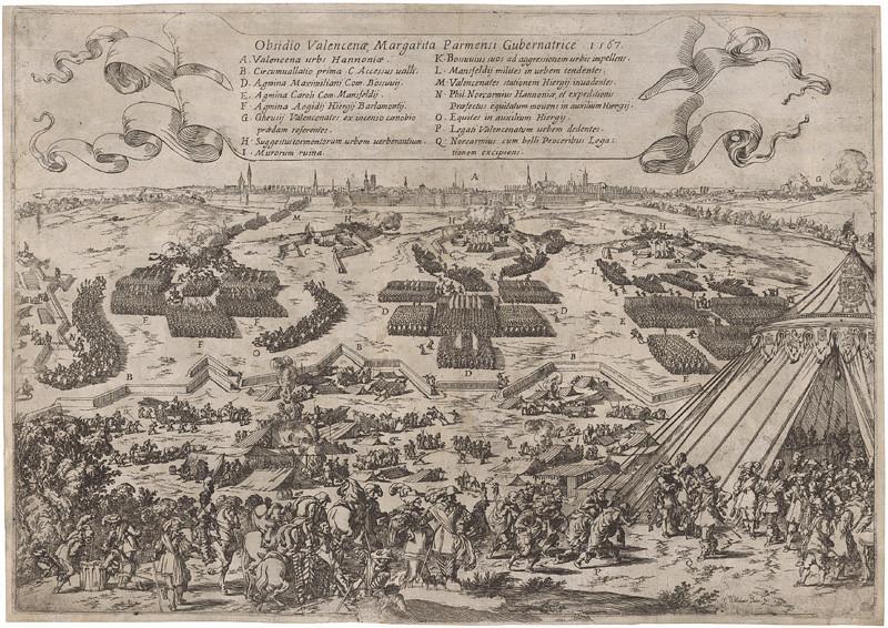 Johann Wilhelm Baur – Obliehanie Valencie v roku 1567, 1635, Slovenská národná galéria