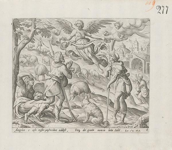 Claes Jansz. Visscher, Maarten de Vos st. - Anjel zvestoval pastierom Narodenie