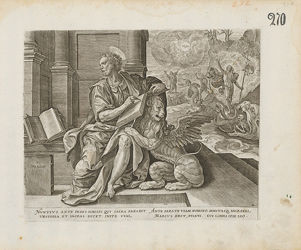 Claes Jansz. Visscher, Maarten de Vos st. – Evanjelista Marek