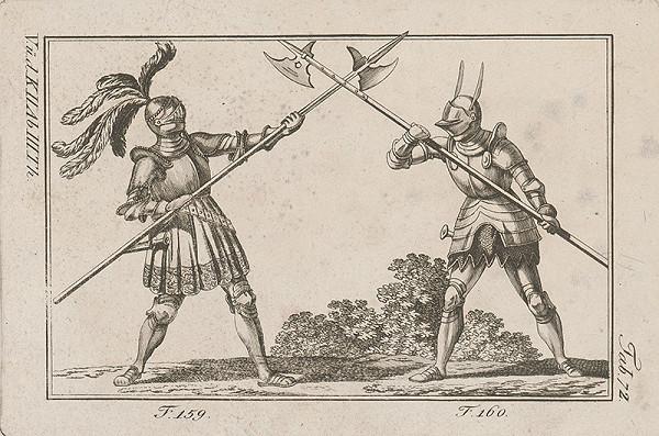 Západoeurópsky autor z 18. storočia – Súboj s halapartňami