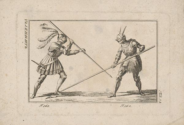 Západoeurópsky autor z 18. storočia – Rytiersky súboj kópiami
