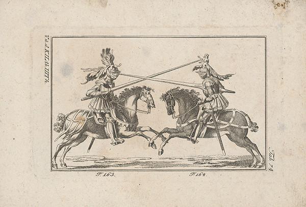 Západoeurópsky autor z 18. storočia – Rytiersky súboj drevcami na koňoch