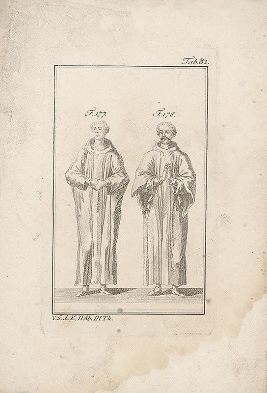 Západoeurópsky autor z 18. storočia – Dvojica mníchov