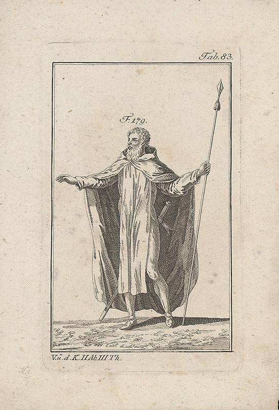 Západoeurópsky autor z 18. storočia – Rytier v dvojdielnom plášti