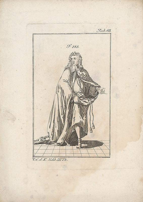 Západoeurópsky autor z 18. storočia – Šlachtic v plášti