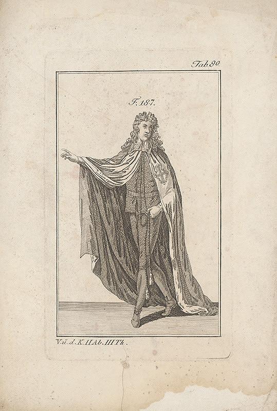 Západoeurópsky autor z 18. storočia – Šlachtic v zdobenom plášti