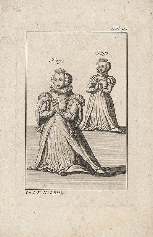 Západoeurópsky autor z 18. storočia – Dve kľačiace dámy v okruží