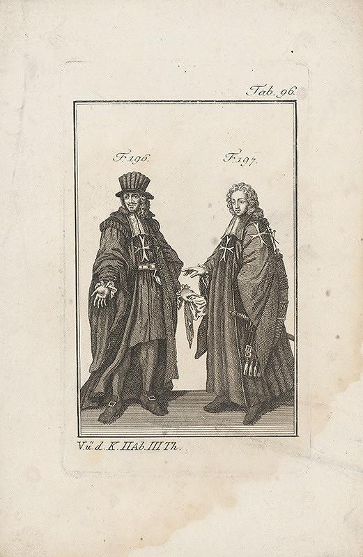 Západoeurópsky autor z 18. storočia – Dvaja rytieri s maltézskymi krížami