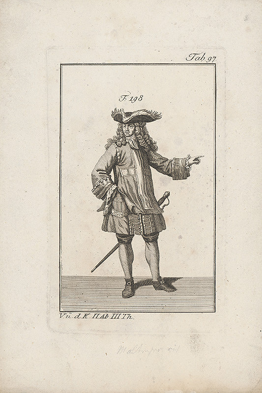 Západoeurópsky autor z 18. storočia – Krížový rytier -mušketier?