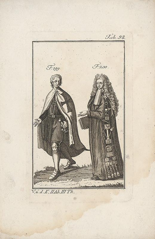 Západoeurópsky autor z 18. storočia - Rytier a učenec s maltézskymi krížmi na odeve