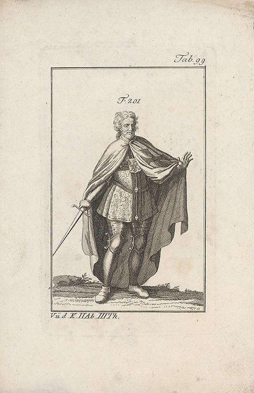 Západoeurópsky autor z 18. storočia – Rytier s orlom na hrudi