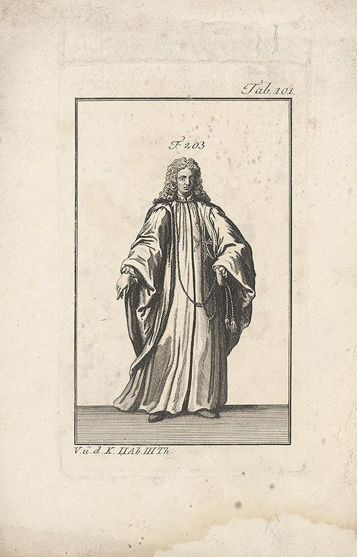 Západoeurópsky autor z 18. storočia – Maltézsky mních