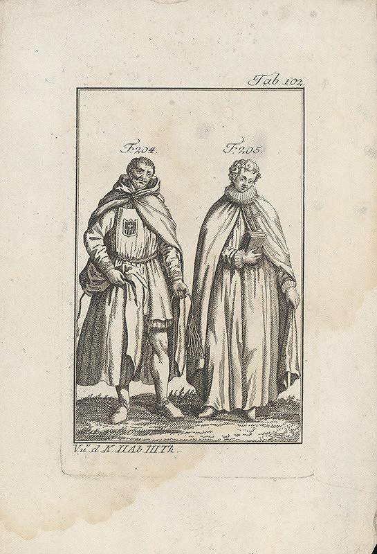 Západoeurópsky autor z 18. storočia – Rytier a mních krížovej reguly