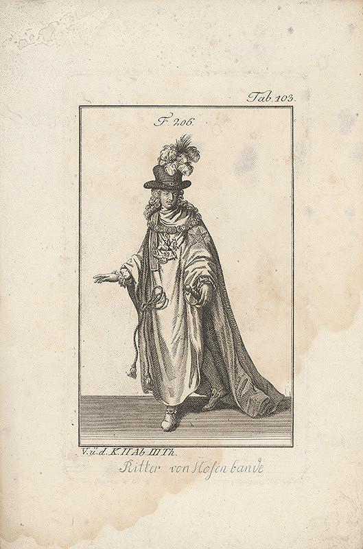 Západoeurópsky autor z 18. storočia – Rytier v klobúku s chocholom
