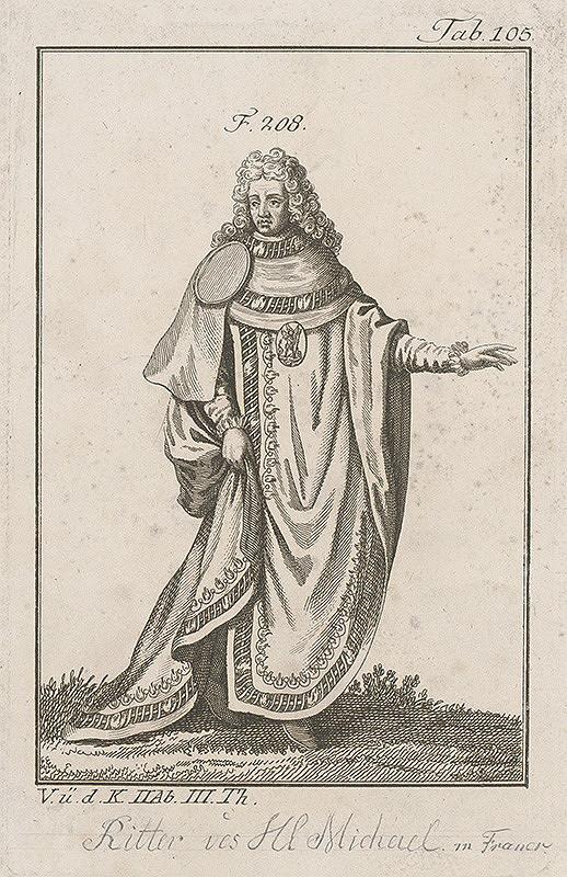 Západoeurópsky autor z 18. storočia – Šlachtic so znakom sv.Michala