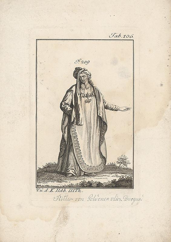 Západoeurópsky autor z 18. storočia – Šlachtic so zlatým runom