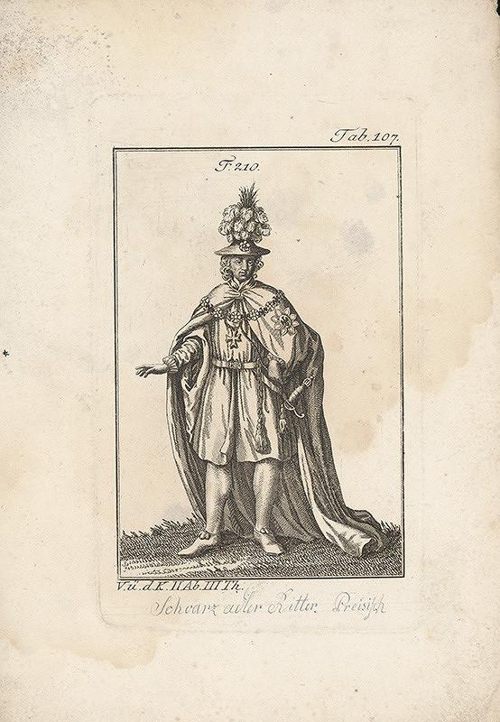 Západoeurópsky autor z 18. storočia – Šlachtic s odznakom čierneho orla