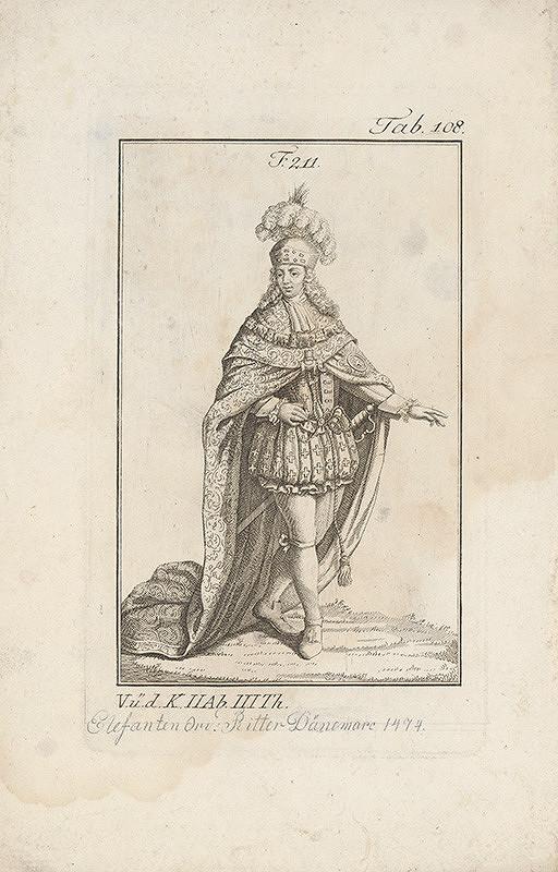 Západoeurópsky autor z 18. storočia – Šlachtic so znakom slona