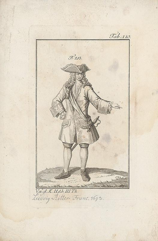 Západoeurópsky autor z 18. storočia – Šachtic s krížom na šerpe a trojrohým klobúkom