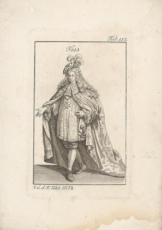 Západoeurópsky autor z 18. storočia – Vysoký šlachtic v bohatom plášti
