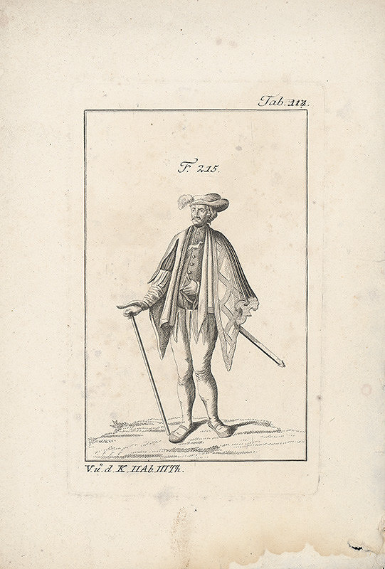 Západoeurópsky autor z 18. storočia – Muž v plášti