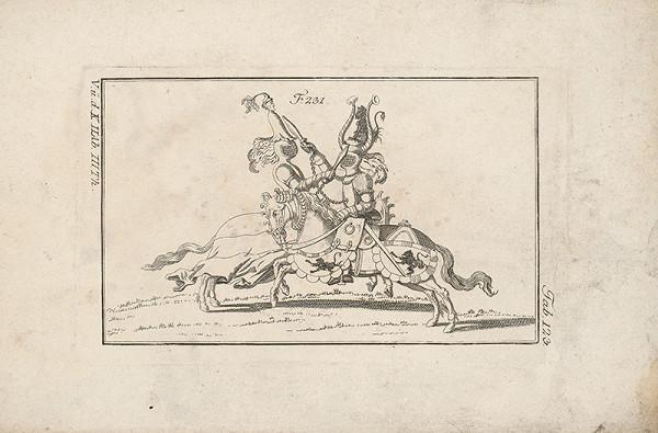 Západoeurópsky autor z 18. storočia – Turnajový zápas krátkymi mečíkmi