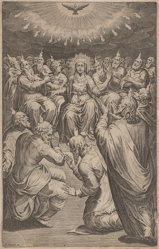 Claude Déruet, Neznámy grafik – Zoslanie Ducha Svätého
