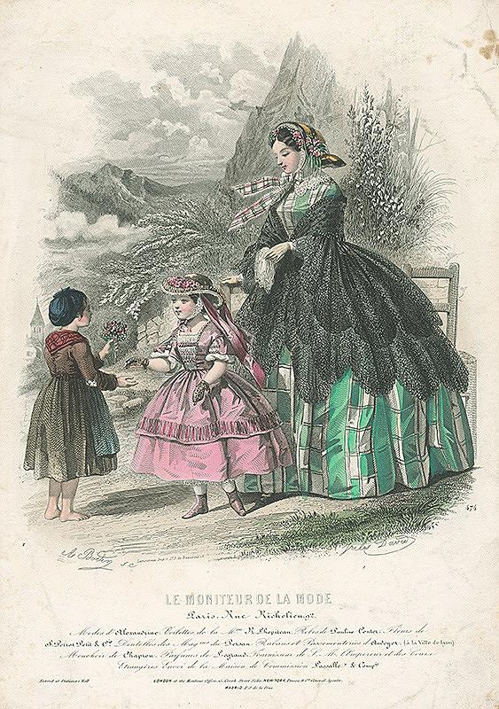 Jules David, A. Bodiny, A. Bodin, Amédée Bodin - List z módneho časopisu Le Moniteur de la Mode