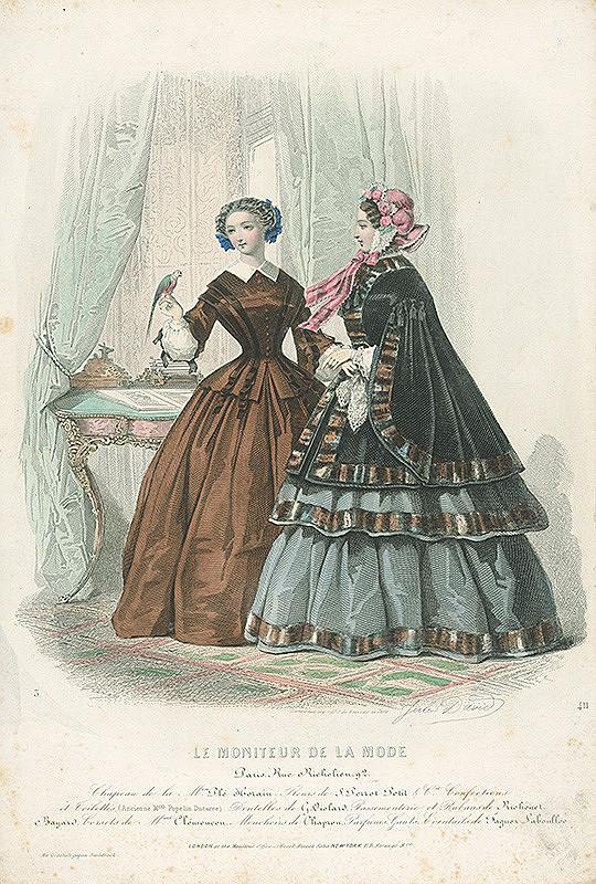 Jules David, Revillez, Pienal, Émile Préval – List z módneho časopisu Moniteur de la Mode