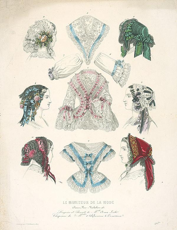 Jacques Philippe de Beauvais, Jules David, Réville - List z módneho časopisu Le Moniteur de la Mode