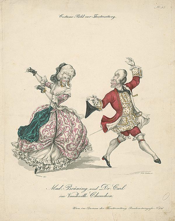 Johann Wenzel Zinke, Josef Cajetan – Divadelný kostým