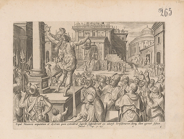 Hieronymus Wierix – Machab: 1.Cap: 7.27