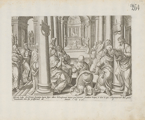 Hieronymus Wierix – Machab: 1.Cap:4.52