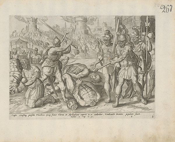 Claes Jansz. Visscher, Hieronymus Wierix - Machab. 2.Cap: 10. 32.