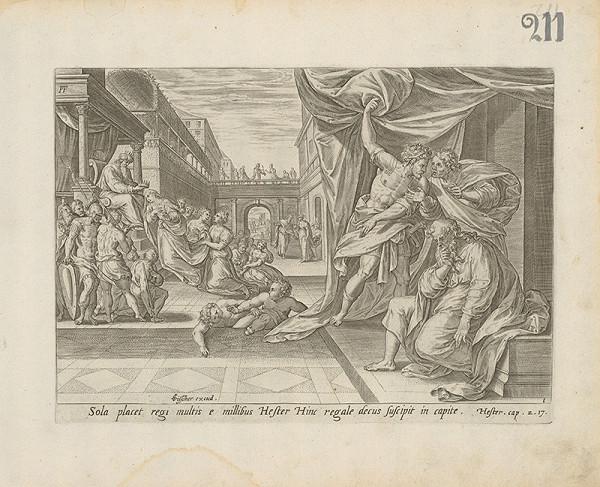Claes Jansz. Visscher – Starý zákon Hester.Cap.2.17