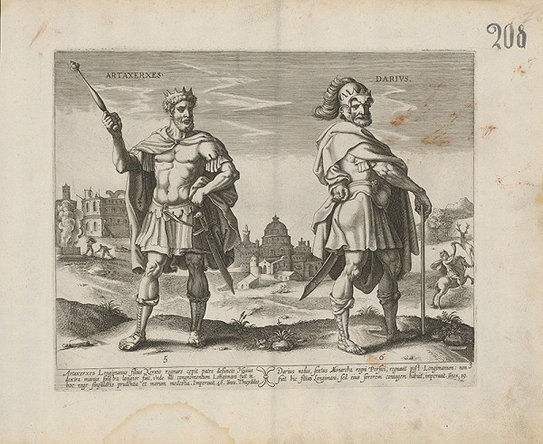 Claes Jansz. Visscher - Artaxerxes a Darius