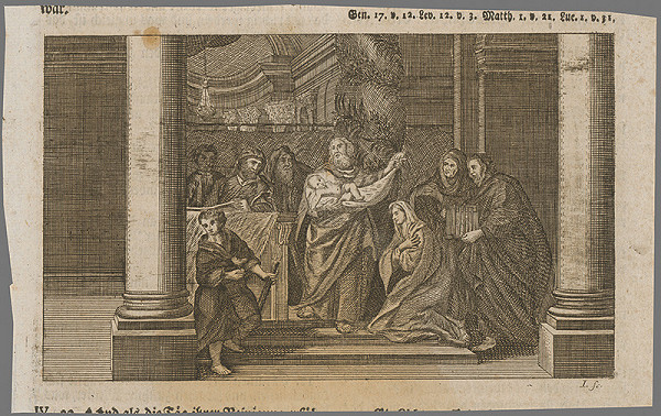 I. A. Joninger - Obetovanie Krista v chráme
