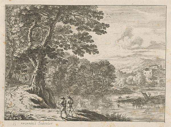 Herman van Swanevelt - Krajina pri rieke