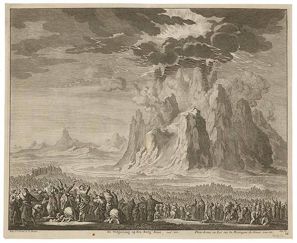 Jan Luyken – Boh dáva zákony na hore Sinaj