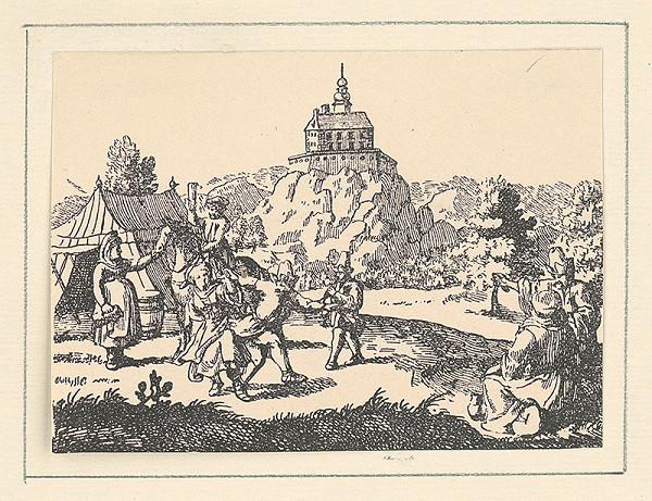 Rakúsky grafik z 18. storočia – Ostrý kameň