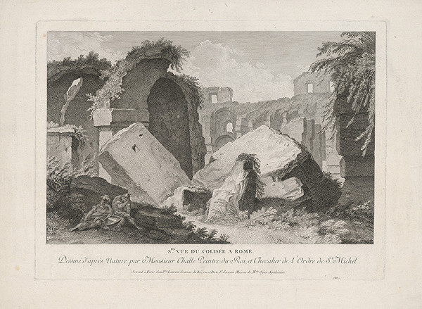 Pierre Francois Laurent, Charles Michel-Ange Challe – V ruinách Kolosea v Ríme (druhý pohľad)