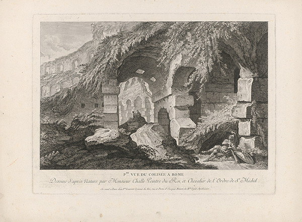 Pierre Francois Laurent, Charles Michel-Ange Challe – V ruinách Kolosea v Ríme (prvý pohľad)