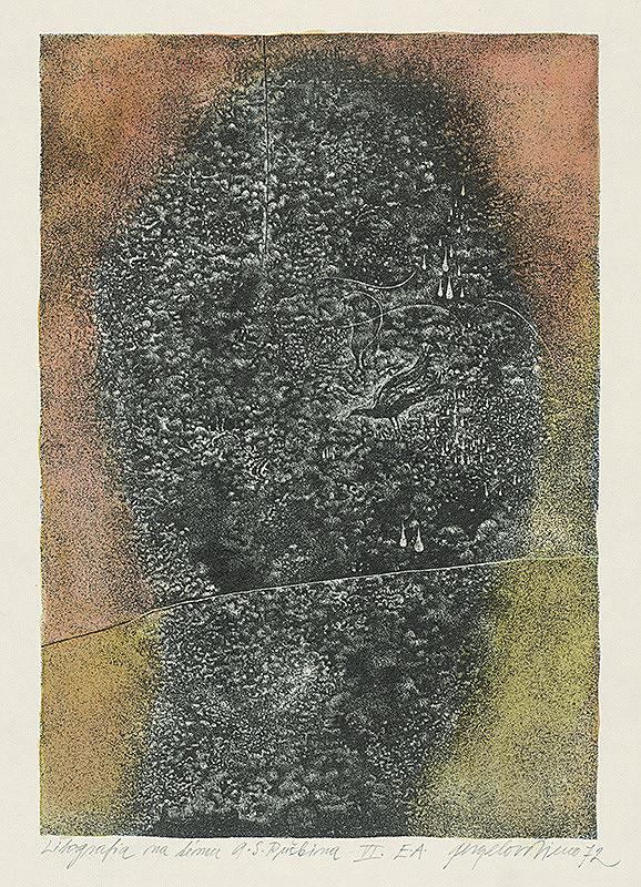 Viera Gergeľová - Litografia na tému A.S.Puškina 6.